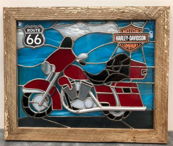Moto sur route 66